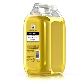 London Fine Soaps byr255–5LFS Patchouli–Lavare corpo e capelli, 5l (Confezione da 2)