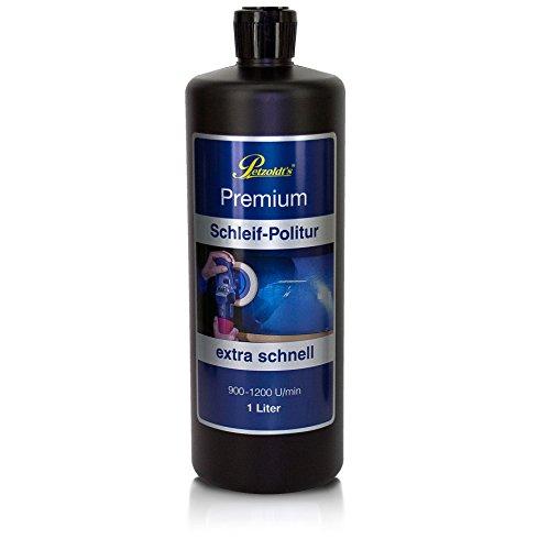 1 Liter Petzoldts Premium Schleif Politur, entfernt extra schnell Lackdefekte und Waschkratzer