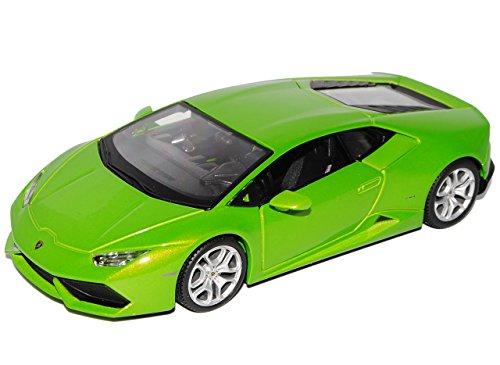 Maisto Lamborghini Huracan LP610-4 Coupe Grün Ab 2014 1/24 Modell Auto mit individiuellem Wunschkennzeichen - Freud Türen
