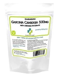 Garcinia 500mg de picolinate de chrome 50% d'HCA 60 comprimés