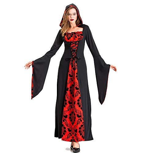 Lady Death Kostüm - Chengzuoqing-CL Halloween Damenkostüme Halloween Female Adult Ghost Hexe Kostüm Kleid Rock Death Kostüm Black Red Devil Dress Up Party anziehen (Farbe : Schwarz, Größe : L)