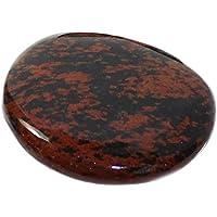 budawi® - Handschmeichler Mahagoni-Obsidian flach, 40 x 35 mm Freeform Scheibenstein Obsidian Daumenstein preisvergleich bei billige-tabletten.eu