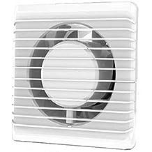 MKK Premium Badl/üfter mit Timer Nachlauf und automatischen Lamellen in wei/ß /Ø 120 mm 12 cm K/üche Badezimmer Toilette Wohnrauml/üfter WC Wohnzimmer Flur Keller