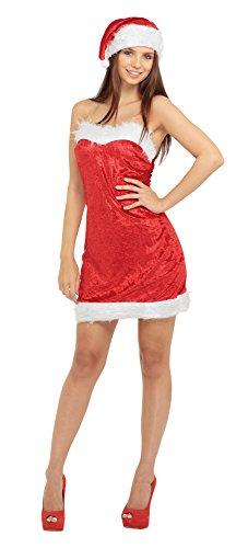 Kostüm Frau Santas - Bristol Novelty AC823 Sexy Frau Santa Kostüm