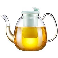 Teekanne Glas 1,4 Liter Lotus & Fish Serie Grün mit Sieb porzellan für Lose Blätter & Flower Tee Heißen Tee Kalten Tees Teebeuteln Kräutertee von Zens Lifestyle