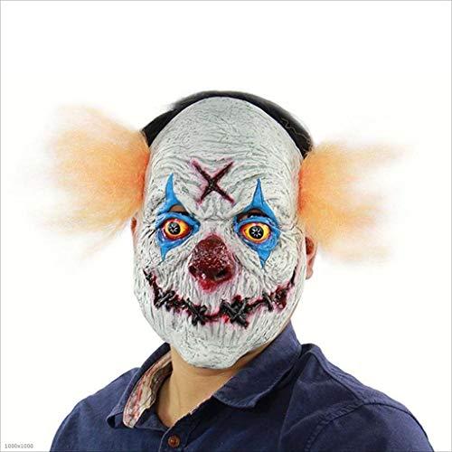 XRFHZT Halloween Horror Human Clearance Plan Rache Clown Latex Maske
