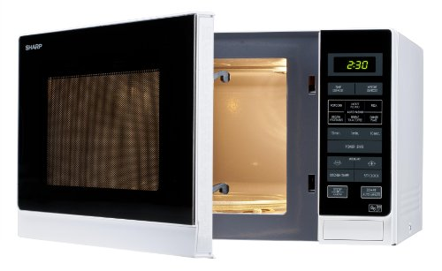 Sharp 25 Litre Solo Microwave, White