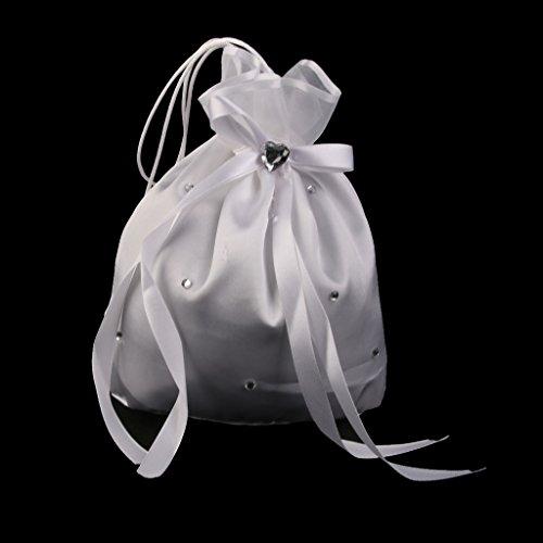 eutel Täschchen Säckchen Beutel Tasche Brauttasche Weiß ()