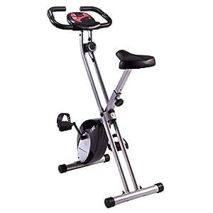 Ultrasport Trainer da Casa F-Bike, con Sensori Delle Pulsazioni, Peso Massimo Utente 100 kg, Ripiegabile