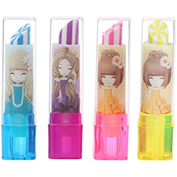 Pop Up Lipstick Eraser Girls Stationery Stocking Filler Gift