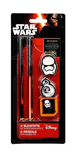 Preisvergleich Produktbild Star Wars 2 Bleistifte u. Radierer