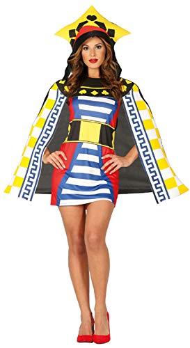 Kostüm Vegas Party - Fancy Me Damen Spielkarte Queen Casino Las Vegas Junggesellinnenabschied Party Kostüm Outfit