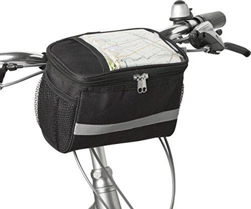 Fahrradtasche Lenker Reflektorstreifen Fahrradkorb Vorne Klett Kühltasche Fahrrad 21,5 x 12,0 x 15,0 cm Fahrradpacktasche