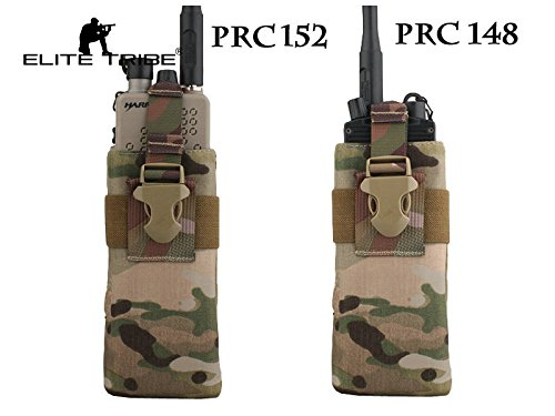AIRSOFT Jagd Radio Pouch Tactical prc148/152Radio Pouch für RRV Weste MultiCam