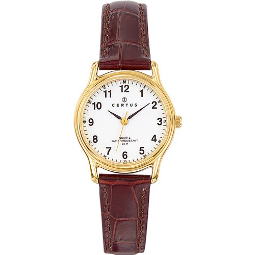 Certus – 646231 – Ladies Watch – Analogue Quartz – White Dial – Brown Leather Bracelet