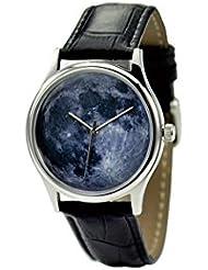WZW Lune noire lune regarder les étoiles l'univers montre unisexe