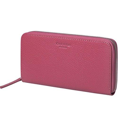 CHI CHI FAN Portemonnaie Classic - Pink | Große Leder Geldbörse aus genarbtem Rindsleder | Top Qualität und stylish-klares Design treffen auf maximale Funktion und Sicherheit | 10x19x2,5cm (Classic Geldbörse Pink)