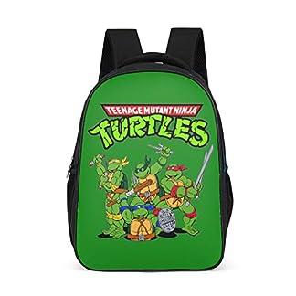 Mochila Escolar para niños pequeños, con diseño de Tortugas Ninja, Color Verde