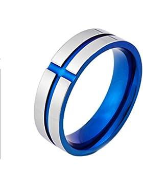 YAZILIND Titan Stahl Ringe westlichen Stil Mode