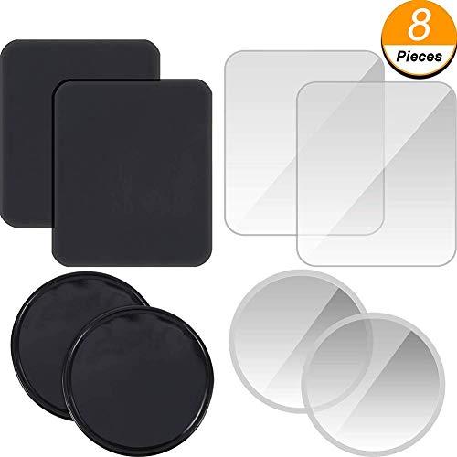 Fixate Gel Pads Handy, Queta 8 Stück Universal Fixate Gel Anti-Rutsch-Pad Multifunktionale Sticky Klebepad für Auto phones Accessoires