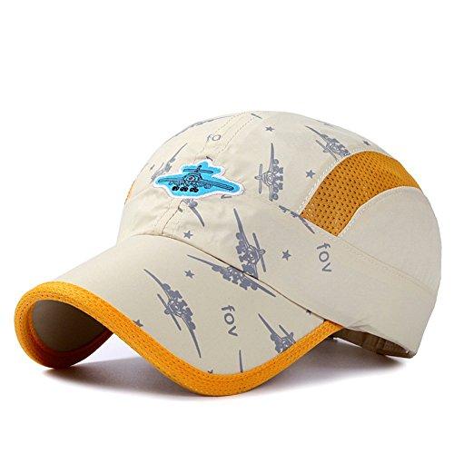 decentron Enfant Chapeau de soleil léger séchage rapide Protection UV en maille aérée Bouchons Beige