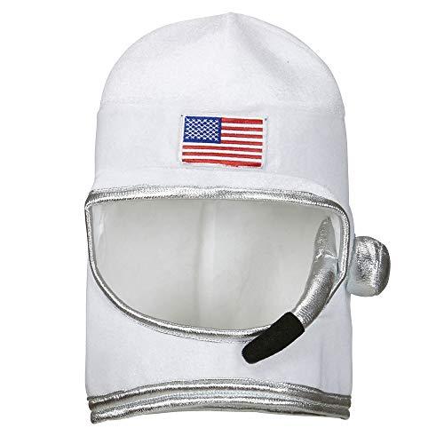 Widmann 01116 Astronautenhelm für Erwachsene, One Size (Kosmonauten Helm Kostüm)