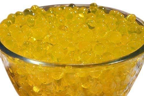 Trimming Shop 10 Packets Schwarz Gel Kugeln Aqua Bio Gelee Kugeln Ungiftig 5g für Pflanze Vase Füller,Hochzeitsdekoration,Mittelstücke - Gold