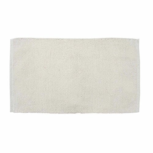 r Chenille Teppich Vorleger 60 x 100 cm aus 100% Reiner Baumwolle, Farbe: naturweiß/Creme, pflegeleicht und strapazierfähig ()