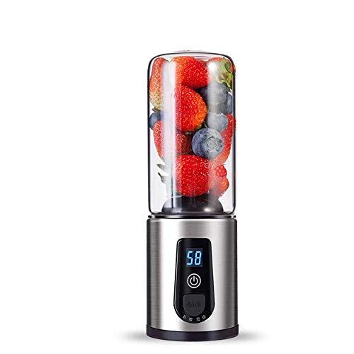 HEAOJ Juicer Spremiagrumi Ricaricabile USB Mini Portatile Juice Cup Travel Frullatore di Frutta Spremiagrumi Elettrico con Testa da 4 Pezzi Tagliafoglie Famiglia