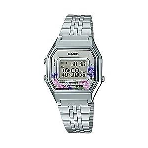Casio Reloj Digital para Mujer de Cuarzo con Correa en Acero Inoxidable