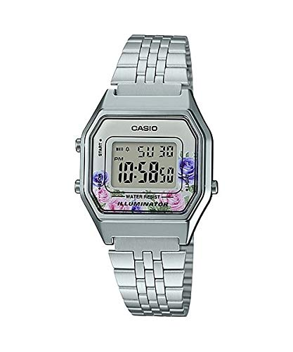 Casio Women's Vintage LA680WA-4C Silver Stainless-Steel Quartz Fashion Watch