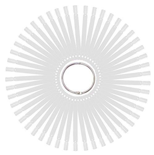 Tipfächer transparent klar mit 50 Präsentations Stäbchen Tip-Stäbchen und praktischem Metall...