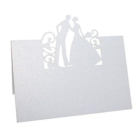 ULTNICE 50 Stück Ortsname Karten Einladung Karte Brautpaar für Hochzeitsparty
