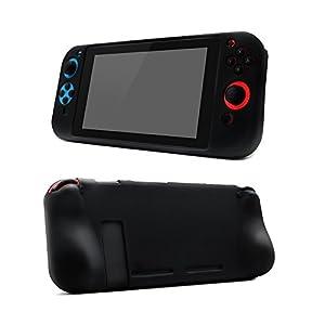Supremery Nintendo Switch Tasche Silikon Case Hülle Full Body mit ergonomischen Joy Con Griff