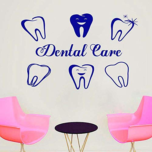 Woyaofal decorative decals for reception desk of dental clinic dental care wall sticker waterproof vinyl care sign wall glass decal 130x85cm