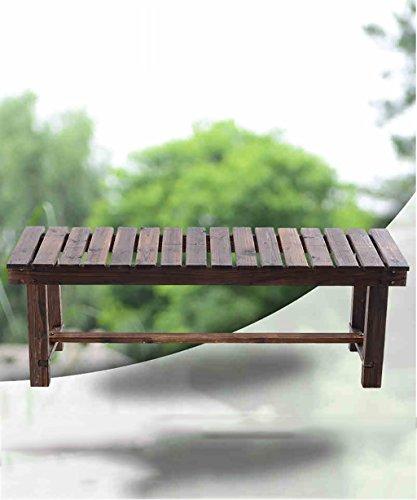 Jianxing Anti-Corrosion Carbonisation Bois Etagère de Fleur Étagère à Fleurs Porte-Fleurs pour Balcon, intérieur (Taille : 150cm)
