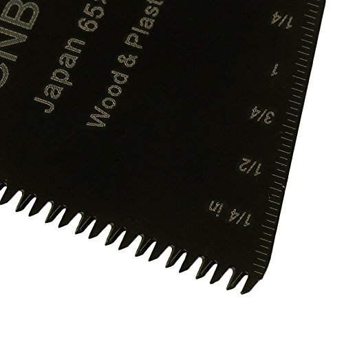 cnbtr schwarz 65x 40mm Japanische Zahn Form Carbon Stahl Sägeblatt Pendelndes Multitool Präzision Quick Release Sägeblätter Set 50Stück