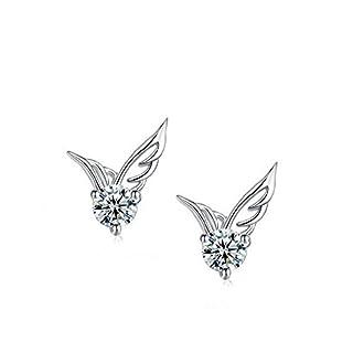 Winter's Secret Pure white Angel Wings AAA Zircon Accented Shining Romantic Stud Earring by Winter's Secret