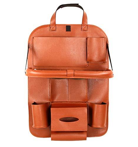 Siège en Cuir Sac Suspendu Chaise de Chargement de Voiture Sac de Rangement arrière Sac de Rangement pour Voiture Fournitures intérieures,D