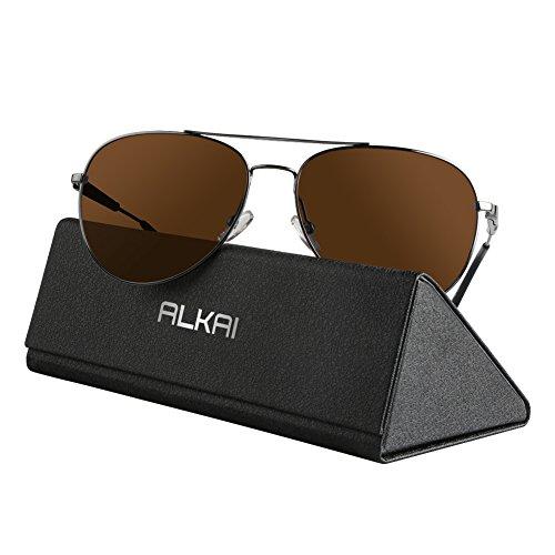 ALKAI Sonnenbrille klassische Sunglass für Herren/Damen/Jungen Braun