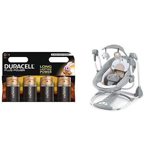 Duracell Plus Power Typ D Alkaline Batterien, 4er Pack + Ingenuity, Baby Schaukel Konvertierenme Swing-2-Sitz - Townsend