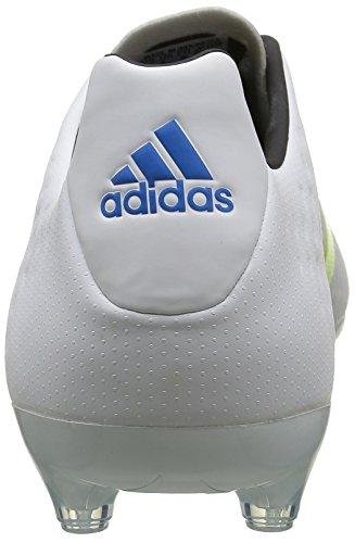 adidas Ace Fg/Ag Terrain Souple, Chaussures de Football Amricain Homme Blanc (Ftwr White/Semi Solar Slime/Shock Mint S16)