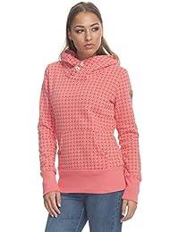 294e1bee4d88 Ragwear Sweater Damen CHELSEA DOTS 1721-30010 Coral Coral 4005