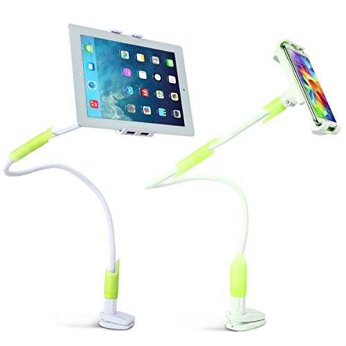 First2savvv LR-MTL-B06 verde luxury fashion universal flexible long Arm Desktop Bed Kitchen Gym Lazy Bracket Holder Stand mount for Amazon Kindle fire HD 8.9 kindle fire HDX 7 kindle fire HDX 8.9 kindle fire HDX YARVIK TAB462EUK Zania 10 Tablet PC TAB275EUK GoTab Ion Tablet PC KINDLE Fire 7 HD Tablet Fire 7 Tablet fire HD LEXIBOOK MFC270EN 7 Tablet Junior con lápiz