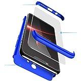 2ndSpring Coque Huawei P20 Lite, Huawei Nova 3e 360 degrés Housse complète Protection 3 en 1 Ultra Rigide Léger Couverture Étui + Protège Écran en Verre Trempé pour Huawei P20 Lite Bleu
