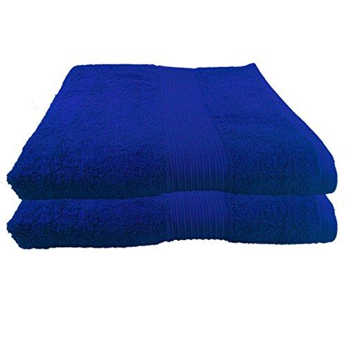 2er Pack Saunatücher Julie Julsen in 28 Farben erhältlich reine Baumwolle Qualität 500 gsm Saunatuch Strandtuch Royalblau 80 x 200 cm B-Ware