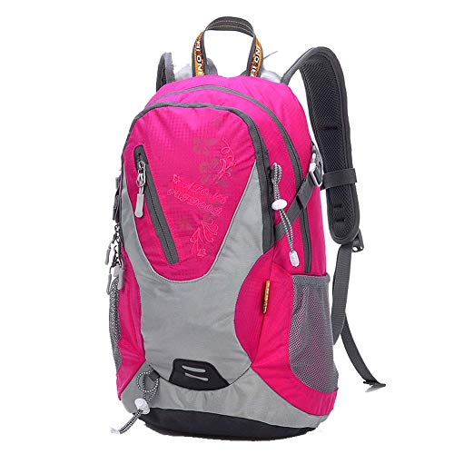 GYBY Outdoor-Reiserucksack, 20L, strapazierfähiges, reißfestes Nylongewebe - Reisen, Wandern, Rucksacktouren, Camping, Outdoor, Strand,-Pink -