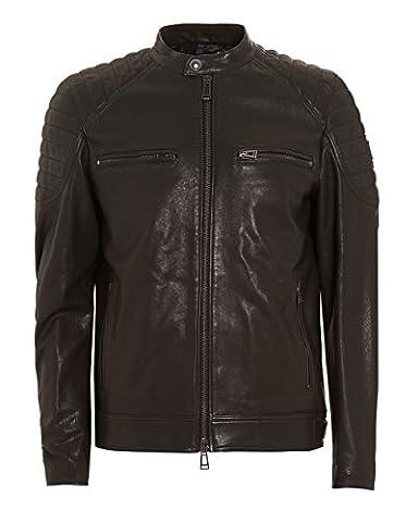 Belstaff Stoneham Leather Jacket Black 40