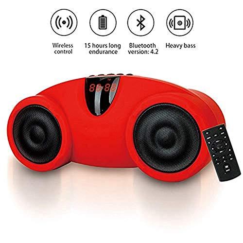 GTDG Lautsprecher Kompakter tragbarer kabelloser Lautsprecher mit HD-Audio und 10-Stunden-Stereosystem mit verbessertem Bass und eingebautem Mikrofon für MP3- / Micro-SD-Reader-UKW-Radio