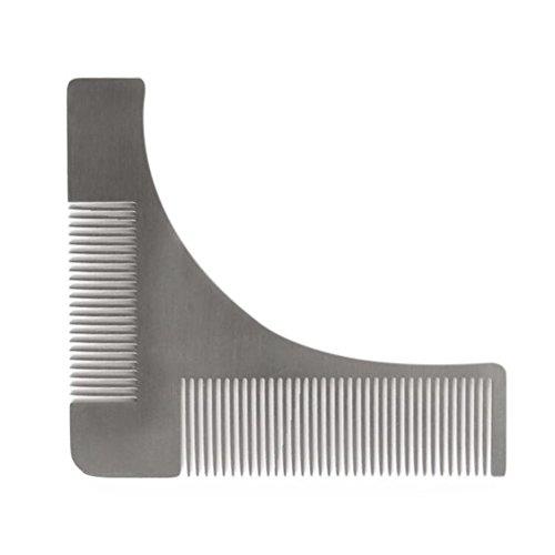 Edelstahl Bart Styling Gestaltung Vorlage natur Kamm Trim Tool Perfekt für Schnurrbart trimmen Styling